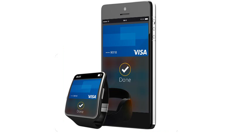 Watch and mobile phone with contactless payments.